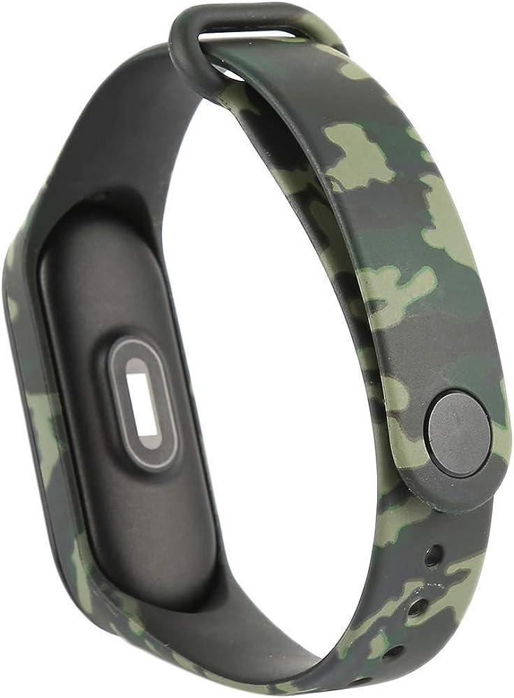 Recambio Camuflaje para Pulsera Actividad XIAOMI MI Band 3 SMARTWATCH MIBAND Correa Reloj (Camuflaje Verde): Amazon.es: Relojes