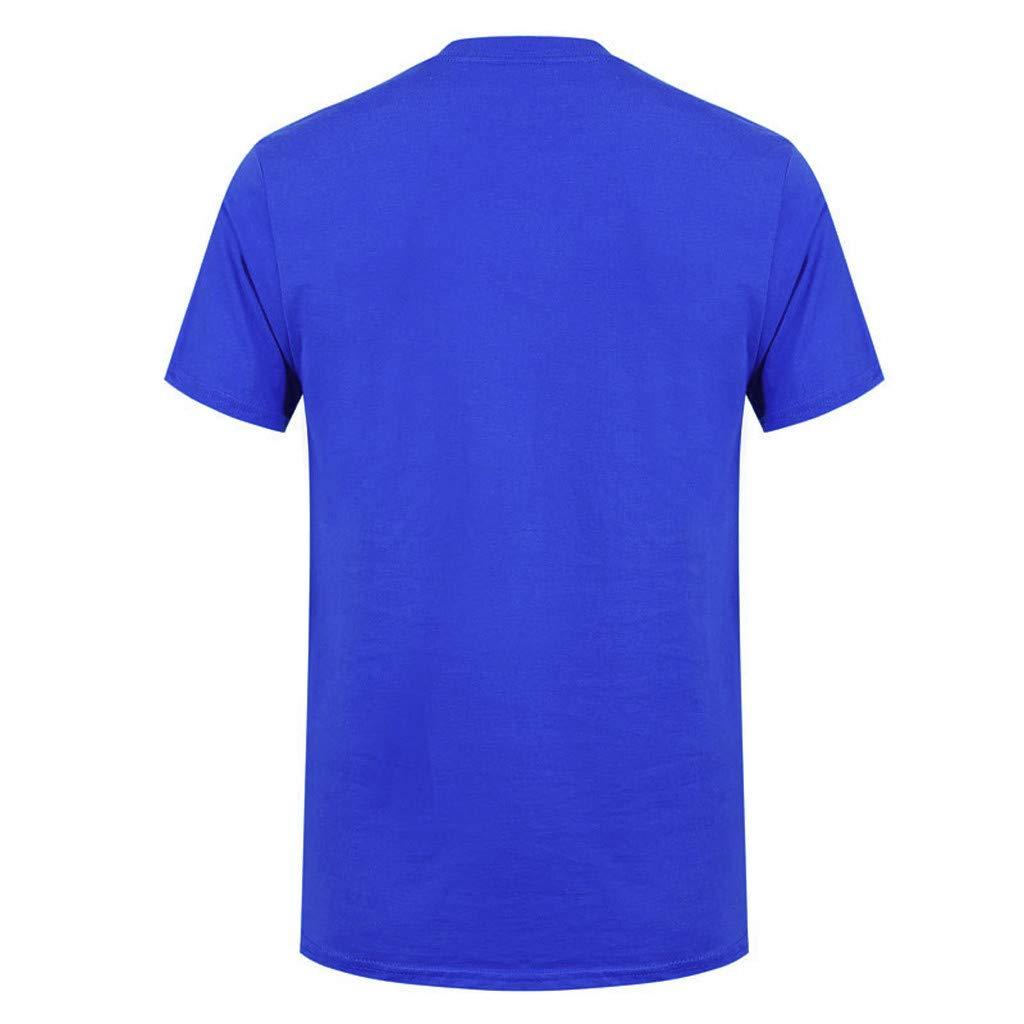 BBesty Mens Casua Skull Printed Round Neck Short Sleeve T-Shirt Save 15/%