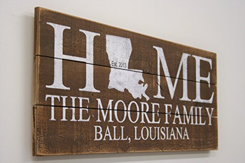 Wood Pallet Sign Wood Sign State Sign Personalized Gift Housewarming Gift Wedding Gift Anniversary Gift
