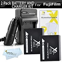 2 Pack Battery And Charger Kit For Fujifilm FinePix HS30EXR, X-Pro1, X-T10 HS33EXR, X-E1, HS50EXR, X-M1, X-A1, X-E2, X-A2, X-T1, X-A3, X-T2, X-PRO2, X-T1 IR Digital Camera Includes 2 Replacement NP-W126 Batteries + Charger + More