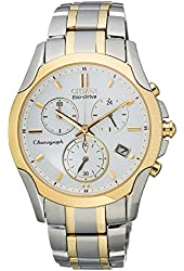Citizen Women's Eco-Drive Sport Chronograph Two Tone Stainless Steel Bracelet Watch 35mm FB1114-51A