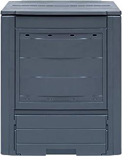 Tidyard Gartenkomposter | Gartenabfallbehälter 260 L | Größe: 60 x 60 x 83 cm (B x T x H) | UV- und witterungsbeständig | Geteilter Deckel für optimale Spülung und Belüftung
