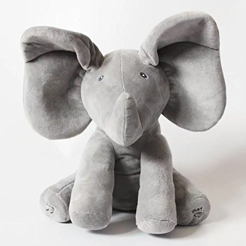 [Peek A Boo Elephant Stuffed Animals & Plush Elephant Doll, Plush Toy & Musical Baby Doll For Baby Gift Or Christmas] (Van Gun X Sword Costume)