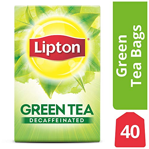 Lipton Green Tea Bags, Decaffeinated, 40 ct