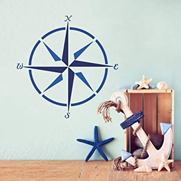 Marineru0027s Compass Wall Art Stencil   Reusable Stencils For Walls    Childrens Room Decor   Stencils