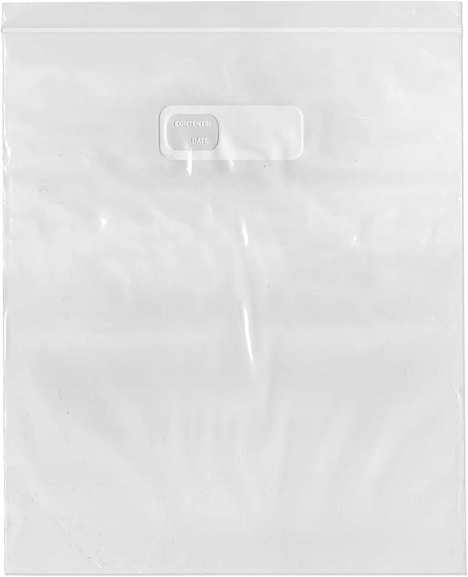 Case of 200 Plymor Zipper 1.75 Mil Reclosable Storage Bags 13 x 15 2 Gallon