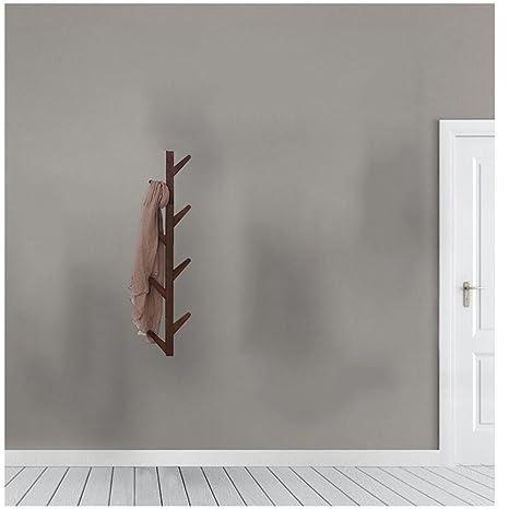Amazon.com: CJC - Perchero de bambú con 8 ganchos para ...
