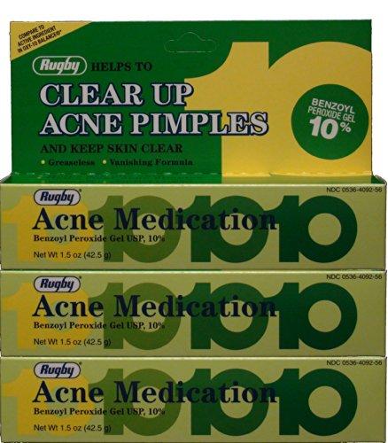 Peroxyde de benzoyle 10% générique pour Oxy-10 Solde acné médicaments Gel 1,5 oz 3 PACK
