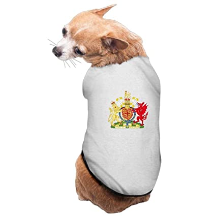2887b727cb64 SGBTJKU Coat of Arms of The Kingdom of England and Wales Stylish Cute  Clothing for Dogs