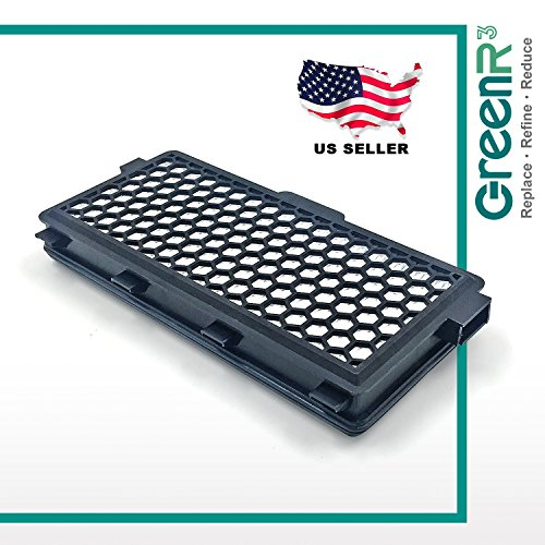 GreenR3 1-PACK Air Filter FOR Miele SF-HA50 fits 5996882 7226170 SF-AA50 S4 Series S5 Galaxy S4000 S5000 Parts Models Accessories PN Replacement Replenishment and more