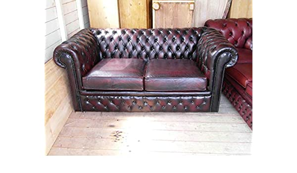 Amazon.com: Chesterfield Sofa Loveseat 2 seaters in Real ...