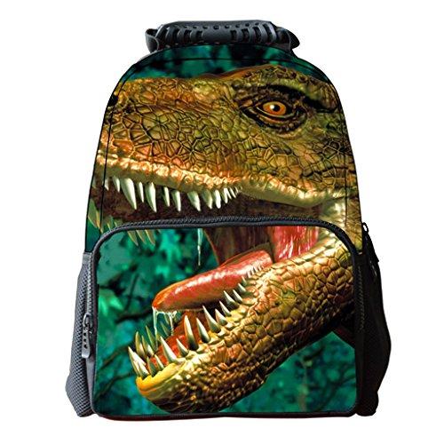 Print C Backpack Shoulder Animal Travel Teens Bag Stylish Cool Bookbags for Bag Unisex B 3D Kofun wRzpR