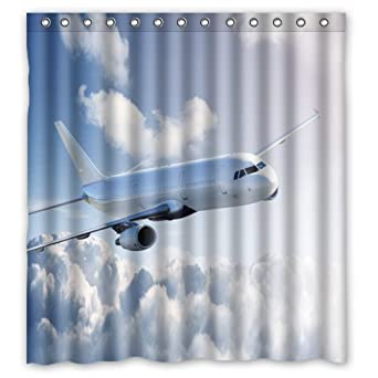 Special Airplane 100 Polyester Bathroom Shower Curtain 66quot