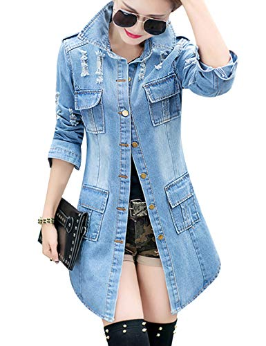 Buy jean long shirts for women