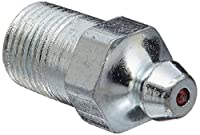 """Alemite 1634-B Leakproof Fitting, Straight, 1"""" OAL, 33/64"""" Shank Length, 7/16"""" Hex Size, 1/8"""" PTF"""