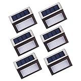 Lightess 6 LED Solar Motion Sensor Security Lights Waterproof Solar Step Lighting Outdoor for Yard Garden Driveway Patio