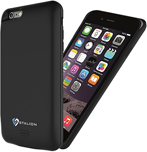 Stalion Stamina 7500Mah Power Bank Cover Battery Case For Iphone 6 Plus 6S Plus  Apple Mfi Certified  Jet Black