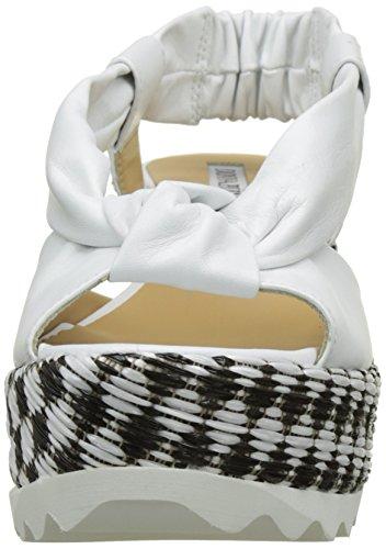 Donna Bianco Blanc Crystel Keleido Femme Guanto Nero Piu Guanto Bianco Plateforme Sandales rfrO1zx