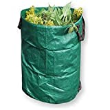 120L Reusable Garden Bag Gardening Leaf Waste Bags Containers Trash Bucket for Leaves, Weeds