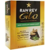 Raw Rev Glo Bar with Raw Superfoods, Dark Chocolate Cashew & Mint, 12 pk 1.6 oz (46 g)