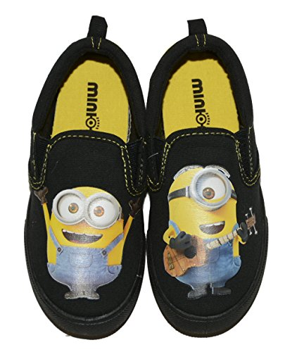 Despicable Me Minions Boys' Canvas Sneaker (11 M US Little kid, Black/yellow) (Despicable Me Shoes)