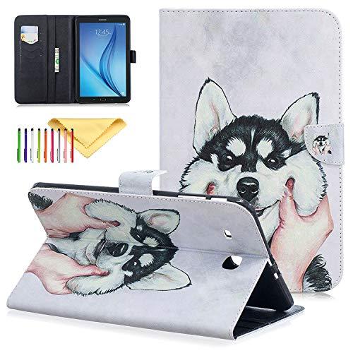 Galaxy Tab E 9.6 Case - Cookk PU Leather Slim Folding Stand Cover with Auto Sleep/Wake for Samsung Galaxy Tab E Wi-Fi/Tab E Nook 9.6