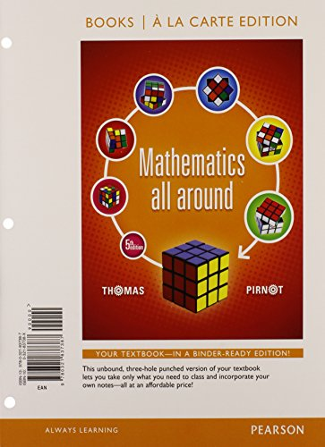 Mathematics All Around, Books a la Carte Edition Plus NEW MyLab Math with Pearson eText -- Access Card Package (5th Edit