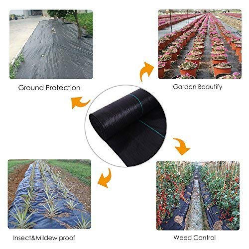 OriginA 3x25ft Weed Control Fabric Planting Holes - Ground Cover Weed Barrier - Eco-Friendly for Vegetable Garden Landscape(Dia 3'',3 Row) by OriginA (Image #6)