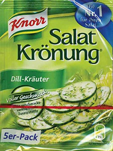 Knorr Salat Kronung Dill-Krauter (Salad Herbs and Dill), 5-Count Packets ()