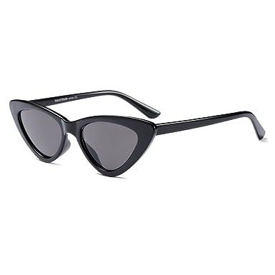 b1aadd7ff5 Red Small Triangle Sunglasses hibote Sexy Cat Eye Sunglasses Women Retro  C1  Amazon.co.uk  Clothing