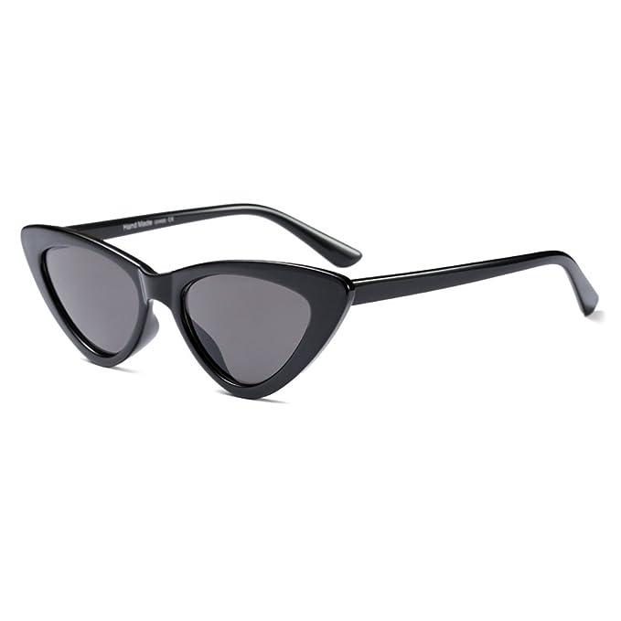 nuovo di zecca dee49 9e2c9 Hibote Occhiali da sole triangolari rossi Sexy Cat Eye Sunglasses Donna  Retro