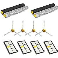 12PCS Replenishment Parts Kit for iRobot Roomba 980 960 900 800 801 805 860 870 880 890 Vacuum Cleaner - Roomba Accessories with 4pcs Hepa filters,4pcs Side Brushes,2 Pair Debris Extractors