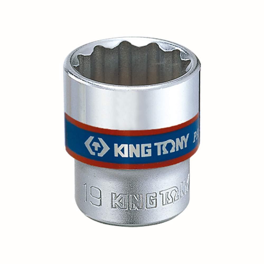 KING TONY 333022 m 12 Punti per Chiave a Bussola 22 mm Attacco da 3//8