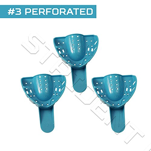 Perforated Impression Trays #3 - Medium Upper x 12