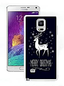 Special Custom Made Merry Christmas White Samsung Galaxy Note 4 Case 5