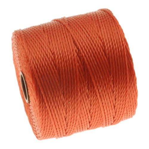 BeadSmith Super Lon Cord Twisted Orange
