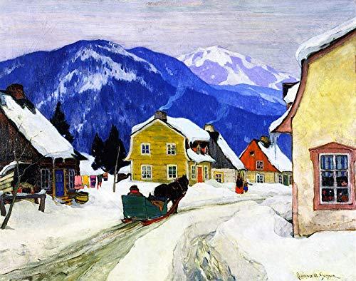 Clarence Gagnon Laurentian Village 1927 Musee National des Beaux-Arts Du Quebec 30