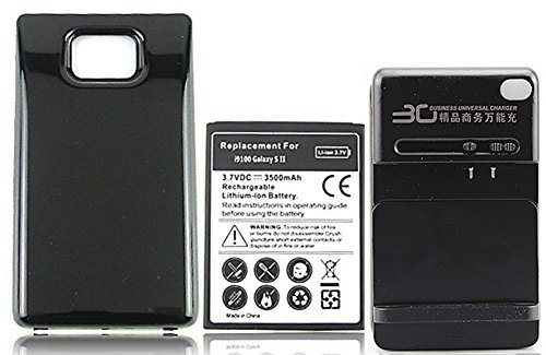 Chariot Trading - YIBOYUAN 3500mAh Extended Backup Battery with Back Cover and Wall charger for Samsung Galaxy S2 SII i9100 GT-i9100 - CJ-BG-000471
