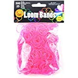 Touch of Nature Neon Gel Loom 500 Bands & 25 Plastic Clasps, Rose Red