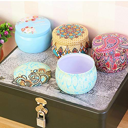 Aland Candy Case,Lovely Mini Tinplate Party Candy Cookies Gift Tea Storage Box Round Container 8# by Aland (Image #3)