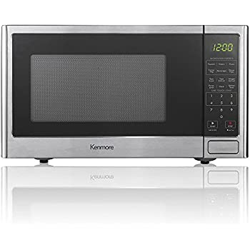 Amazon Com Kenmore White 1 1 Cu Ft Countertop Microwave
