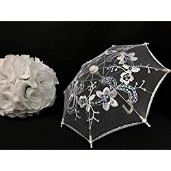 "10"" Baby Shower Lace Umbrella Centerpiece Decoration for Bridal Shower Sweet 16 Baby"