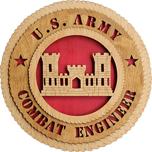 """11.3"""" US Army Combat Engineer Large Wooden Plaque"""
