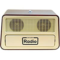 Memory Loss One Button Radio / Large Retro Style Radio 11.75w x 7.25h x 6.25d