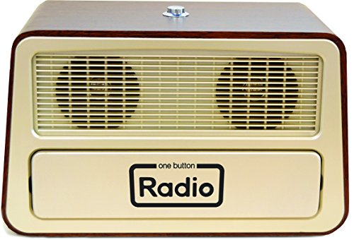 Memory Loss One Button Radio/Large Analog Retro Style Dementia Radio/Size: 11.75