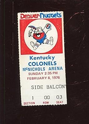 Feb 8 1976 ABA Basketball Ticket Stub Denver Nuggets vs Kentucky Colonels EX