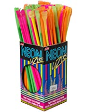 REGAL Neon Lazer Candy Powder Filled Straws, 120 Count