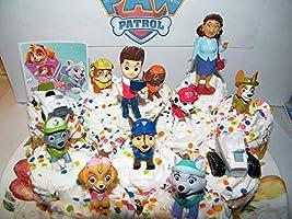 Amazon.com: 12 piezas de decoración para tarta de patrulla ...
