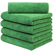 Carcarez Microfiber Car Wash Drying Towels Professional Grade Premium Microfiber Towels for Car Olive Green 380 GSM 16 in.x 16 in. Pack of 5