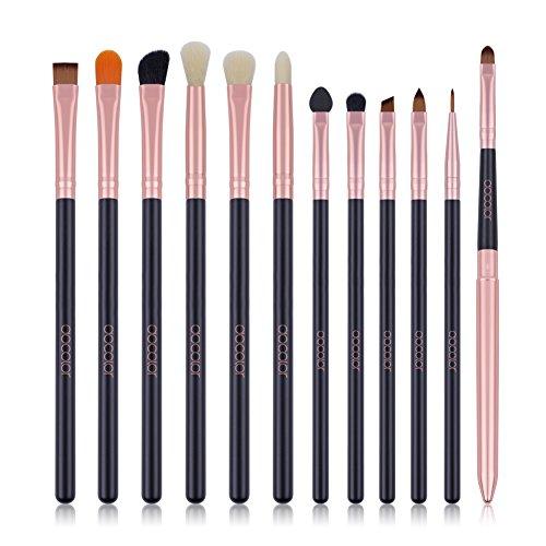 Eye Makeup Brushes Docolor 10Pcs Professional Eye Brush Set Eyeshadow Concealer Blending Brush Tool